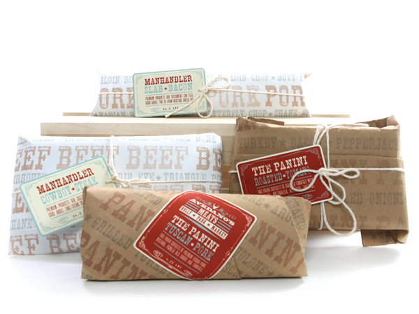 Old Fashion Meat Wrapping